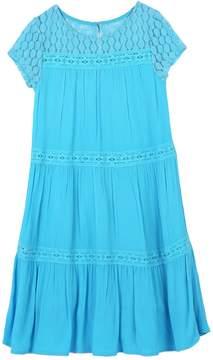 Speechless Girls 7-16 Tiered Lace Trim Dress