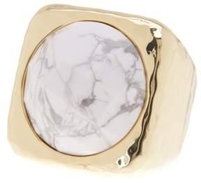 Ariella Collection Square Stone Ring - Size 7