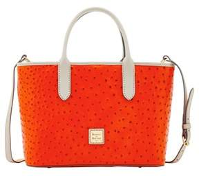 Dooney & Bourke Ostrich Brielle Top Handle Bag. - GERANIUM LIGHT GREY - STYLE