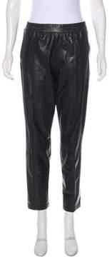 Baja East Leather Mid-Rise Pants
