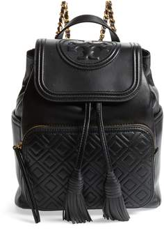 Tory Burch Fleming Lambskin Leather Backpack