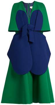 DELPOZO Bi-colour structured cotton dress