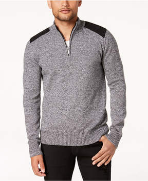 Sean John Men's Marled Henley Sweater, Created for Macy's