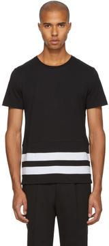 Burberry Black Radley Stripe T-Shirt