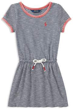 Polo Ralph Lauren Girls' Cotton Striped Shirt Dress - Little Kid