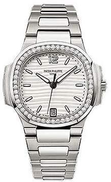 Patek Philippe Nautilus Diamond Stainless Steel Ladies Watch