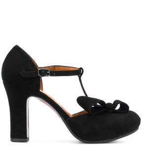 Chie Mihara ankle strap bow pumps