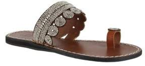 Mia Athens Leather Toe Ring Sandals