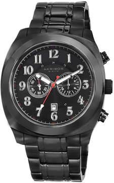 Akribos XXIV Akribos Black Dial Chronograph Black PVD Stainless Steel Men's Watch