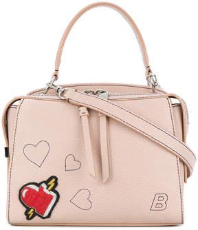 Bally Amoeba heart embroidered tote bag