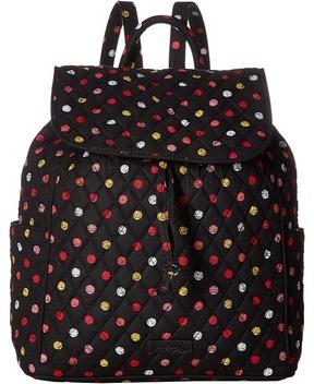 Vera Bradley Drawstring Backpack Backpack Bags - HAVANA DOTS - STYLE