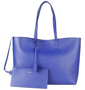 Saint Laurent Women's Blue Leather Tote. - BLUE - STYLE