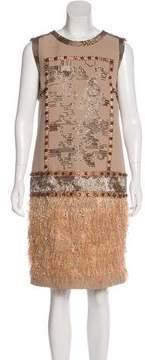 Aquilano Rimondi Aquilano.Rimondi Embellished Wool Dress
