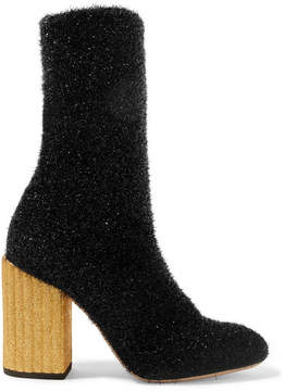 Petar Petrov Saur Lurex Sock Boots - Black