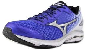 Mizuno Wave Rider 19 Round Toe Synthetic Running Shoe.