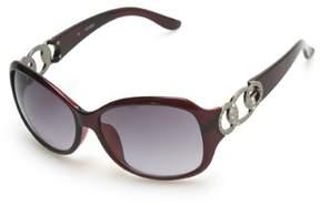 GUESS Women's Oval Rhinestone Sunglasses