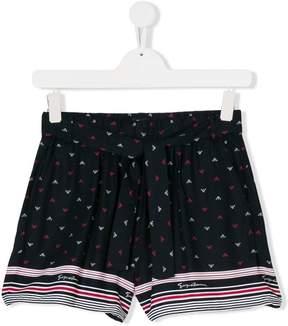 Emporio Armani Kids TEEN logo print shorts