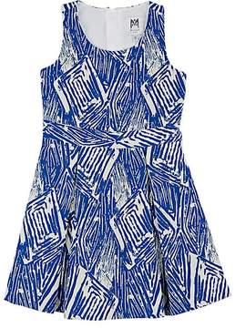 Milly SCRIBBLE-PATTERN COTTON-BLEND FIT & FLARE DRESS