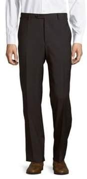 Zanella Devon Flat-Front Style Wool Pants