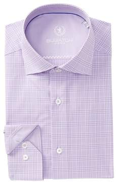 Bugatchi Plaid Shaped Fit Dress Shirt