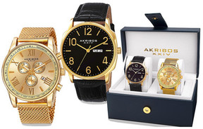 Akribos XXIV Men's Watch Gift Set