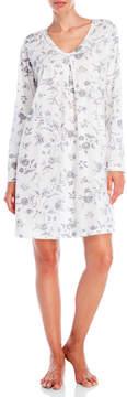 Carole Hochman Printed V-Neck Sleep Shirt
