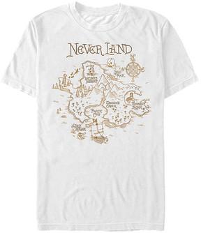 Fifth Sun Peter Pan White Never Land Map Tee - Men