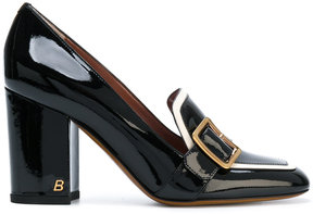 Bally buckled front pumps