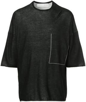 Isabel Benenato knit boxy T-shirt