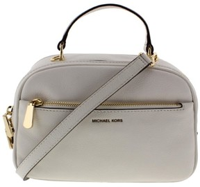 Michael Kors Womens Luka Leather Convertible Satchel Handbag - OPTIC WHITE - STYLE