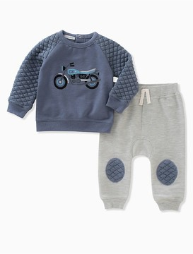 Calvin Klein Baby Boys 2-Piece Motorcycle Quilted Jogger Set