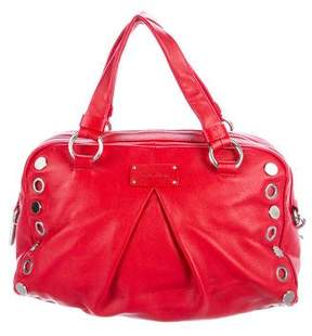 Calvin Klein Leather Studded Satchel