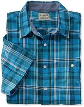 L.L. Bean L.L.Bean Madras Shirt, Slightly Fitted Short-Sleeve