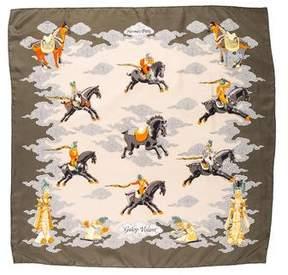 Hermes Galop Volant Silk Scarf