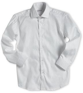 Isaac Mizrahi Boys 8-20) White Shadow Stripe Sport Shirt