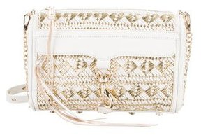 Rebecca Minkoff Woven Leather M.A.C. Crossbody Bag - WHITE - STYLE