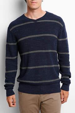 Grayers Ardsley Bold Stripe High V-Neck Sweater