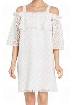 BCBGeneration Womens Lace Cold Shoulder Cocktail Dress