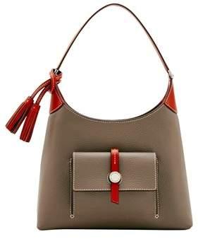 Dooney & Bourke Cambridge Small Hobo Shoulder Bag. - TAUPE - STYLE