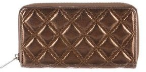Marc Jacobs Metallic Quilted Wallet - METALLIC - STYLE