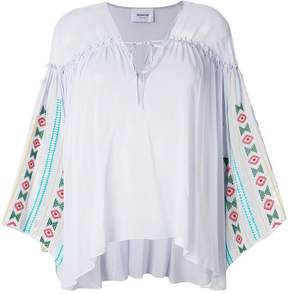 Dondup embroidered tunic-style blouse