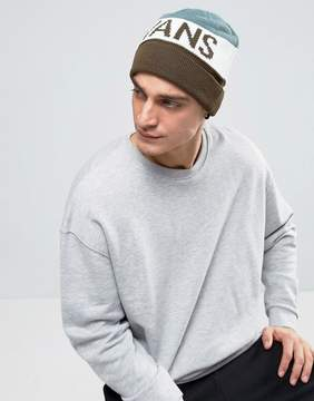 Vans Stitch Beanie Hat In Gray