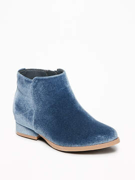 Old Navy Velvet Ankle Boots for Toddler Girls