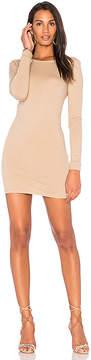 Enza Costa Long Sleeve Crewneck Mini Dress