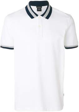 HUGO BOSS stripe detail polo T-shirt