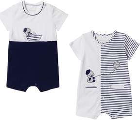 Mayoral Pack of 2 Navy and White Duck Rompers