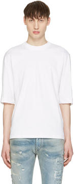 Diesel Black Gold White Poplin Back T-Shirt