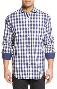 Bugatchi Men's Classic Fit Dobby Gingham Sport Shirt