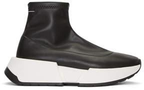 Maison Margiela Black Second Skin Platform High-Top Sneakers