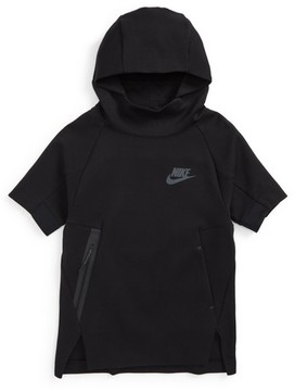 Nike Boy's Sportswear Tech Fleece Short Sleeve Hoodie